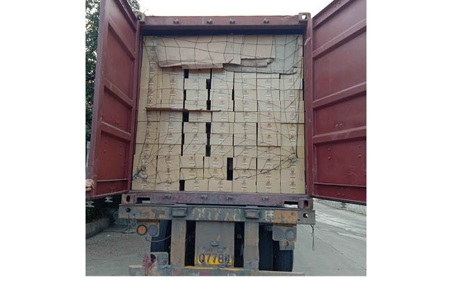 Loading of 7 containers canned mushroom to Algeria